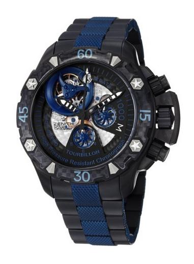 Zenith Men's 96.0529.4035/51.M Defy Xtreme Tourbillon Titanium Chronograph Watch