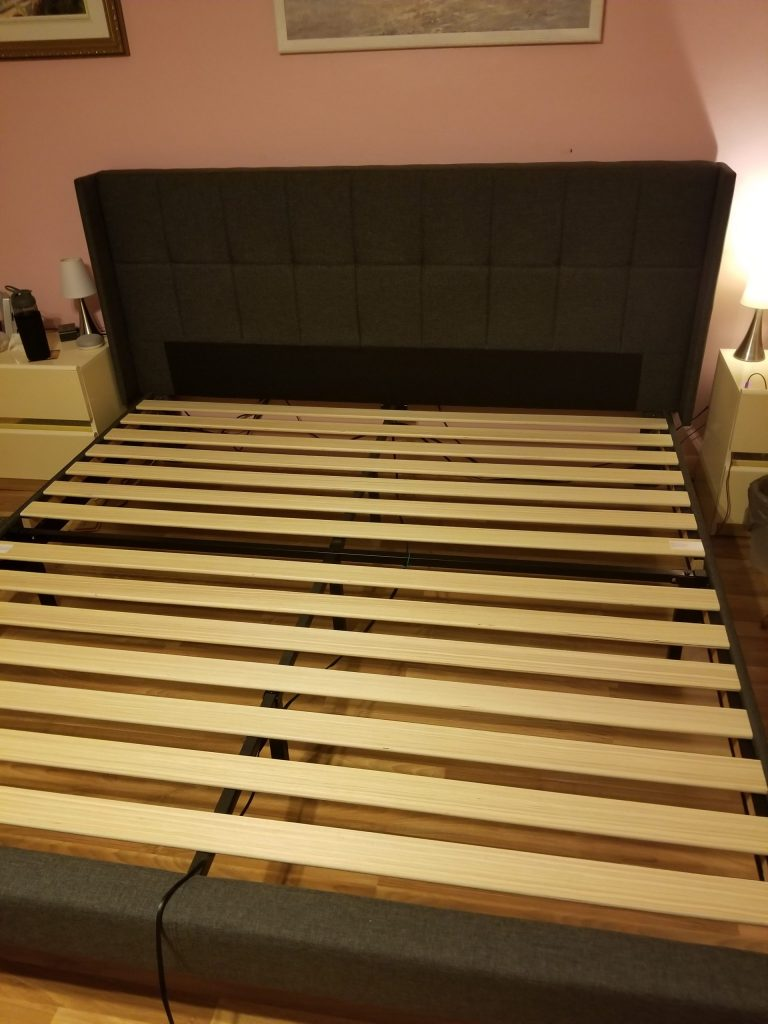 Completed bed frame